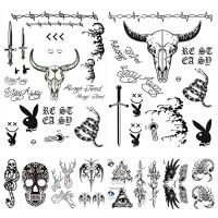 10 Sheets Post Malone Face Tattoo Set, Included Post Malone Tattoos and Death Eaters Tattoos, Halloween Post Malone Tattoos Temporary Accessories and Parties